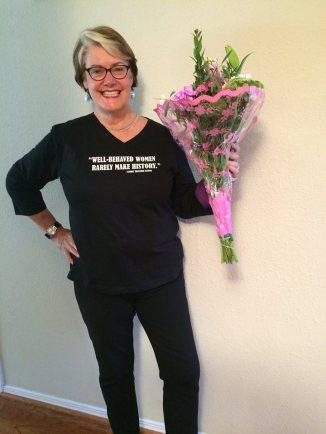 mom w flowers